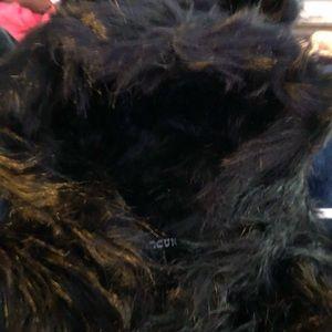 Jackets & Blazers - Black faux fur coat, NEW .
